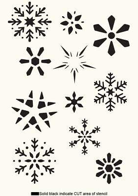 Winter Christmas Pattern Stencil Vintage Stencil Vintage Card making Crafts CH24