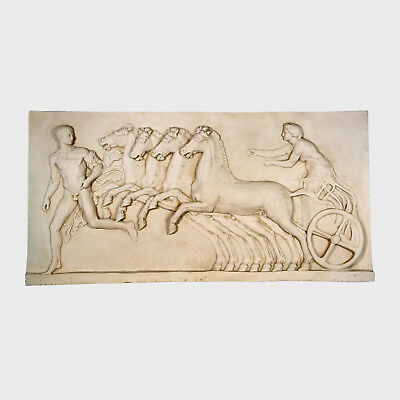 Spain Art Replica- Bas-relief of a chariot (left) marble / 73H cm / 40 kg