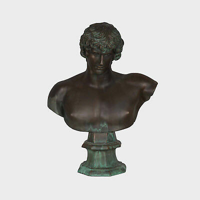 Spain Art Replica (bust)- Antinoo (Prado Museum - bronze) / 97H cm / 40 kg