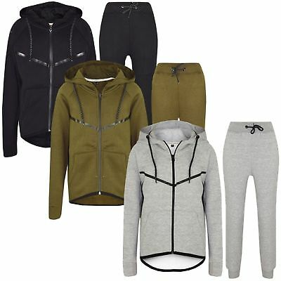 New KIDS TRACKSUIT SET FLEECE HOODIE TOP & BOTTOMS JOGGERS BOYS GIRLS AGE 7-13