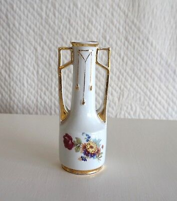 Gorgeous Small Antique Bone China Art Nouveau Vase Vienna Style Made in Germany
