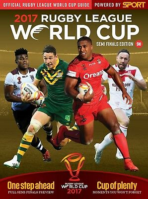 Rugby League World Cup 2017 Semi Final Programme England Tonga Australia Fiji