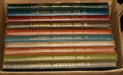 10 Volumes of Lantern Services Books by Newton & Co.