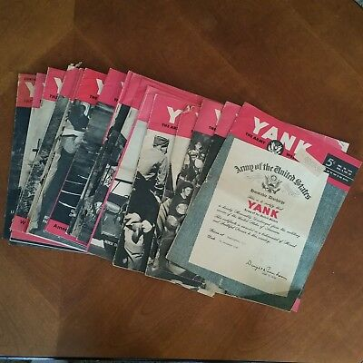 WWII Pin-Up Girls YANK Magazine The US ARMY Weekly 20 including Last Issue