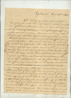 1815 Letter Datelined Saybrook (Ct) From H W House
