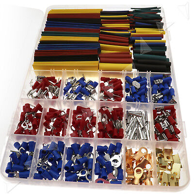 678 Car Wire Electrical Terminals Connectors & Heat Shrink Tube Sleeving Kit Set