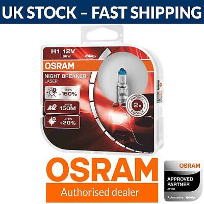 OSRAM Night Breaker Laser (Next Generation) +150% H1 Car Headlight Bulbs (Twin)