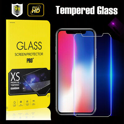 9H Tempered Glass Screen Protector Film For Apple iPhone XS 8 Plus 7 6S 5S SE 4s