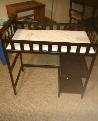 Cherry Oak Wood baby changing table with mat
