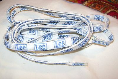 RARE vintage pair of LEE JEANS Shoe Laces+ 40 1/2 inches long X 3/8 of an inch