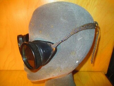 Vtg Antique Safety Goggles Auto Classic Touring Car  Motorcycle Classes Welding