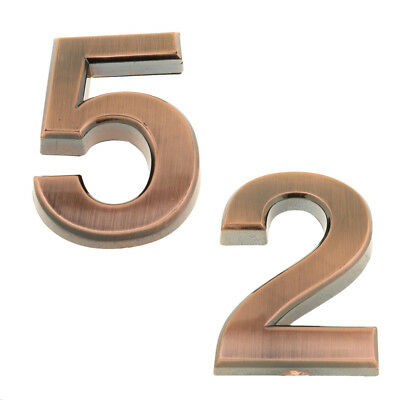 2pcs House Number Sign Plaque Numbers Address Door Copper Plate Digits 2,5