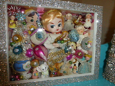 Over The Top Gorgeous OOAK Vintage Style Christmas Angel Shadowbox Pose Doll