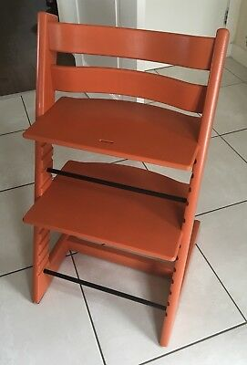 Stokke Tripp Trapp High Chair - Lava Orange. Great Condition