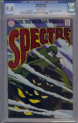 The Spectre #10 CGC 9.4 OFF-WHITE Pages (May-Jun 1969, DC) Last Issue Nick Cardy