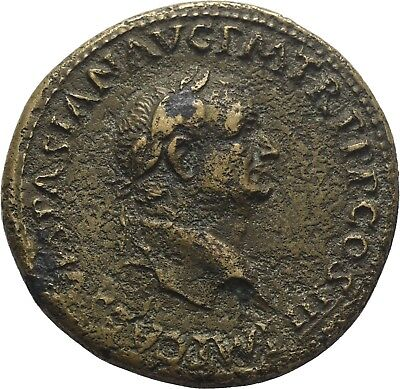 LANZ Rom Vespasian AE Sesterz Rom MARS VICTOR S C Victoria Trophae €TCH576
