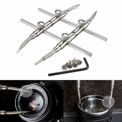ND_ Durable Stainless Steel DSLR Camera Lens Repair Kit Spanner Wrench Open To