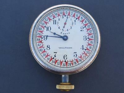 Antique Waltham 8 Day Travel/Car Clock (KS-6422) – Runs Great! Rare WOW