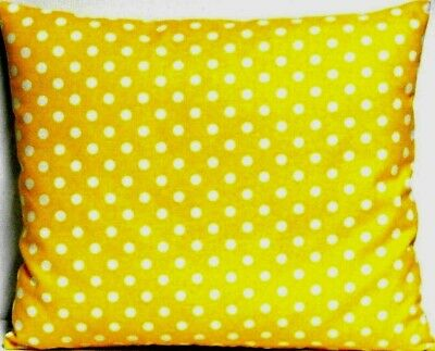 Toddler Pillow  White dots on Yellow 100%Cotton P20-1 New Handmade