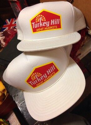 Lot Of Two Vintage Turkey Hill Mini Mart Hats New Old Stock one Size fits all