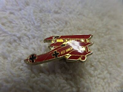 Red Baron Fokker Dr 1 German Luftwaffe Hat Pin Ww 1 Wing Pilot