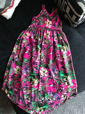 Girls Marks and Spencer's floral high low summer dress 9-10