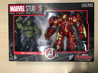 *HOT* Marvel Studios MCU First Ten Years Hulk Hulkbuster Age of Ultron Set! L@@K