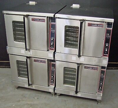 Two Garland MCO-GD-10A Master 300 Full Size Double Stack Gas Convection Oven