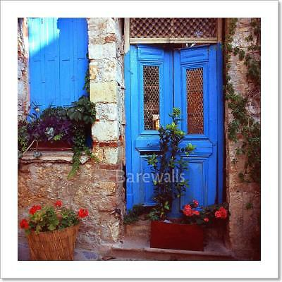 Door Of A Greek Ruin Art Print Home Decor Wall Art Poster - E