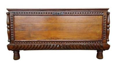 Large Antique Hand Carved French Oak Blanket Trunk Coffee Table Dowry Chest Coff