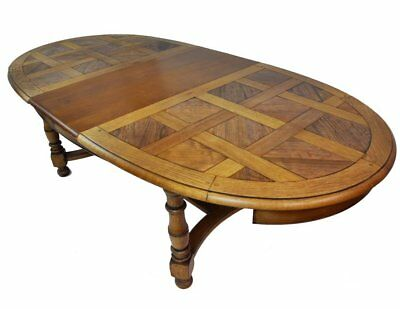 Timeless and Elegant Oval Vintage French Oak Extendable Dining Table