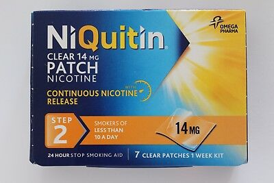 Niquitin Clear 14mg Patch Nicotine Step 2 - 7 Patches