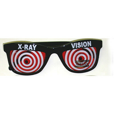 Red X-Ray Vision Glasses X Ray Specs Goggles Spiral Hypnotize Wayfarer Adult