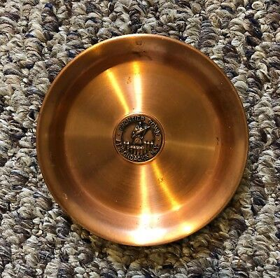 New York Solid Copper Coaster Ash Tray Frontier Town Adirondacks 50 Years Old