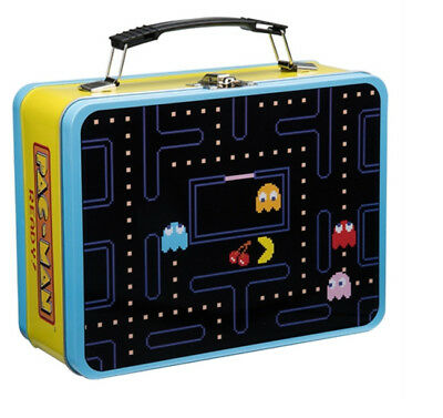 PAC-MAN Large Tin Tote Lunch Box School Pacman Pac Man Game Children