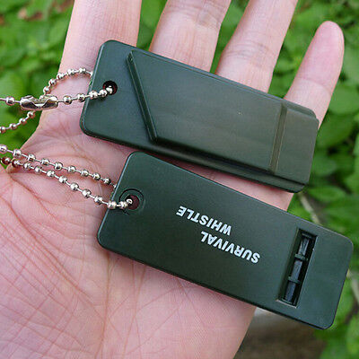 Emergency Survival Whistle Rescue Tool Signal Sound Outdoor Camping Hiking IT