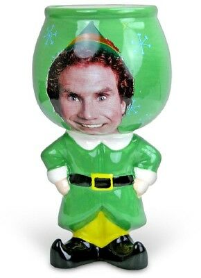 Elf Buddy Molded Goblet Will Ferrell 12oz Cotton Headed Ninny Muggins Green