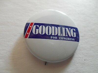 Pennsylvania Bill Goodling Local Congress Pin Back Campaign Political Button