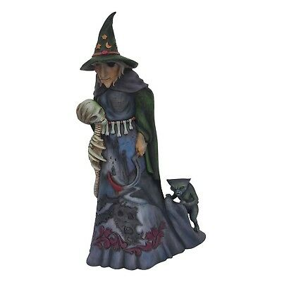 Jim Shore Heartwood Creek Halloween Witch with Skull 6001546 NEW Darkness Lives