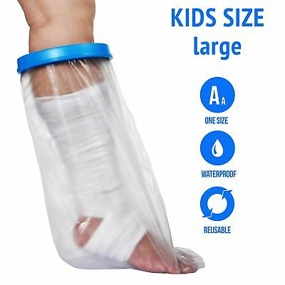 Waterproof Cast Cover For Shower & Bath Kids Legs, Reusable, 100% Sealed, New