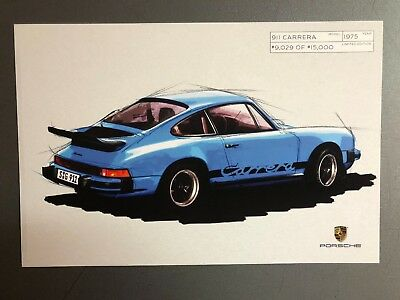 1975 Porsche 911 Carrera Coupe Limited Edition Postcard Post Card RARE!! Awesome