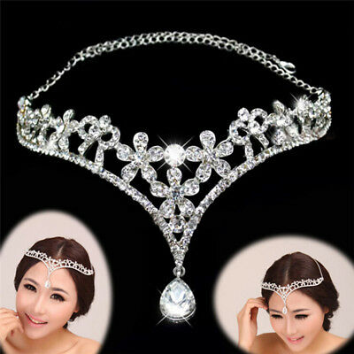 Rhinestone Band Bridal Tiaras Crowns Princess Prom Crown Headband Wedding XR