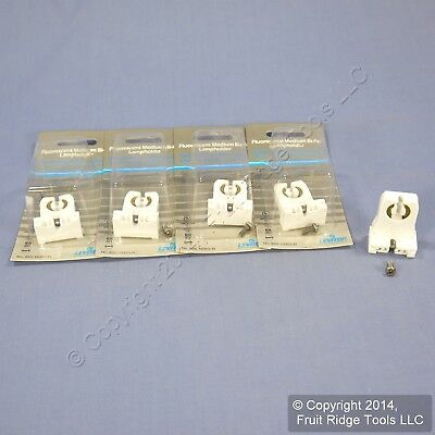 5 New Leviton Fluorescent Lamp Holders T-8 T-12 Low Profile Light Socket 13353-N