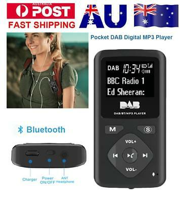 DAB Pocket Digital Radio Receiver Bluetooth With MP3 Player Portable w/ Earphone