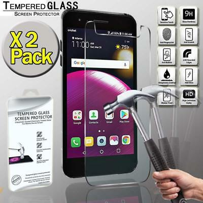 2 Pack Tempered Glass Film Screen Protector  For LG Fortune 2