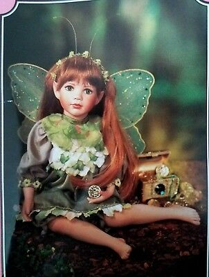 New ~ Paradise Galleries ~ Fairy Doll ~ Treasure Of The Emerald Isle Collector