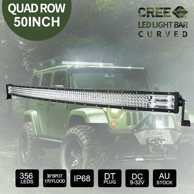 50 inch CREE LED Light Bar Curved Combo Beam Work Driving Lamp 4x4 356000LM