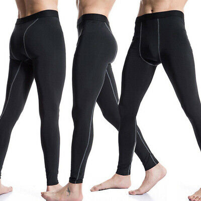 Gym Workout Pants Mens Sports Running Compression Base Layer Football Tights USA