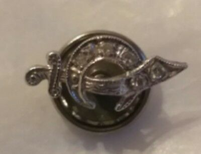 Antique Solid 14K Gold Diamond Shiner's Hat Lapel Pin .3 Grams