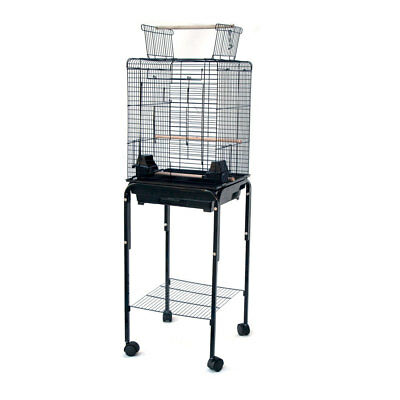 Open Roof Canary Cockatiel Parakeets Finch Bird Cage with Stand